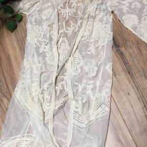 Maternity lace kimono size small